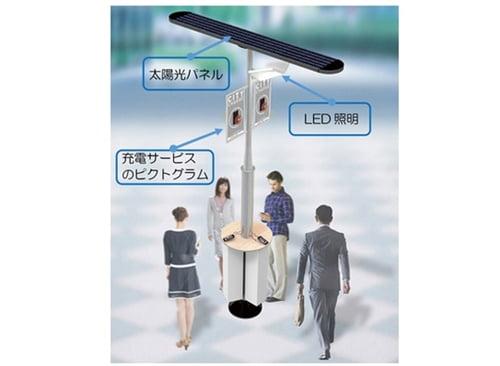 シャープ太陽電池充電スタンド