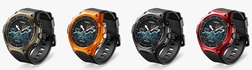 カシオのスマートウォッチ「Smart Outdoor Watch WSD-F10」カラー