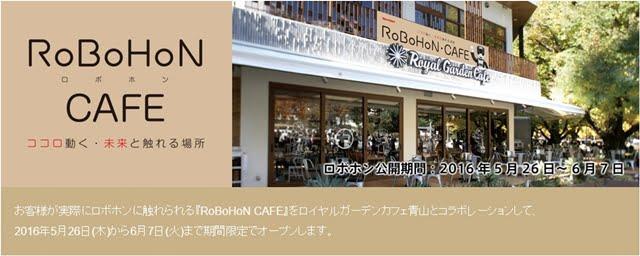 RoBoHoN CAFEtop画像