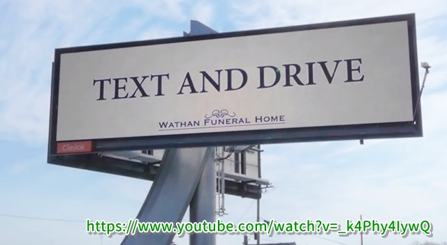 TEXT AND DRIVE看板