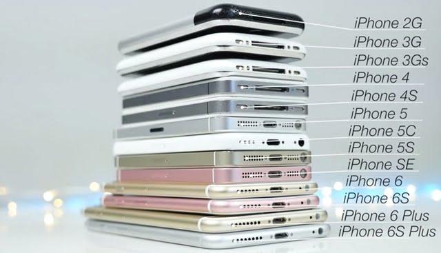 歴代iPhoneタワー