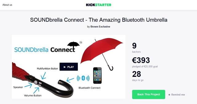 SOUNDbrella Connect スマホと接続して通話できるスマート傘登場!トップ画像