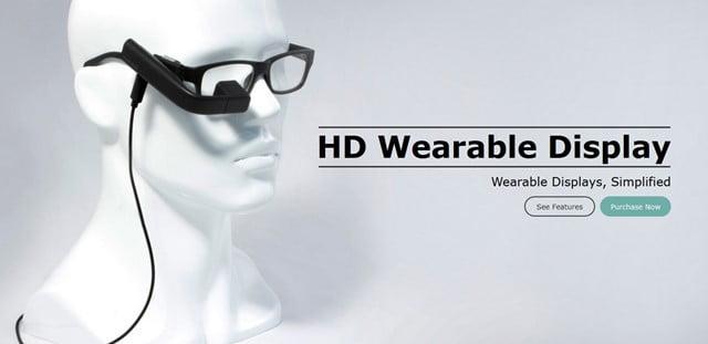 Vufine(ビューファイン) メガネ装着型のウェアラブルディスプレイ登場!トップ画像