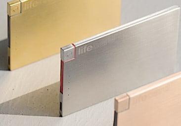 LIFE CARD 財布に入るカードサイズな超薄型モバイルバッテリー