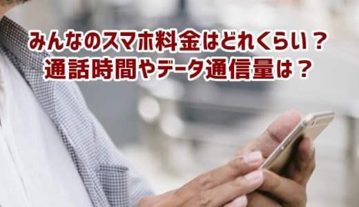格安SIM(MVNO) みんなの利用料金・通話時間・データ通信量はどれくらい?