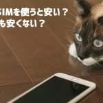 格安SIMは安い?安くない?