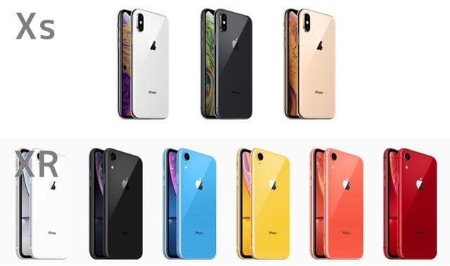iPhoneXsとXRのデザイン・カラー比較