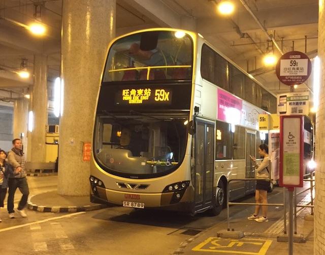 香港の二階建てバス