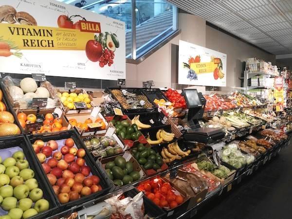 スーパーマーケットのビラ(BILLA)