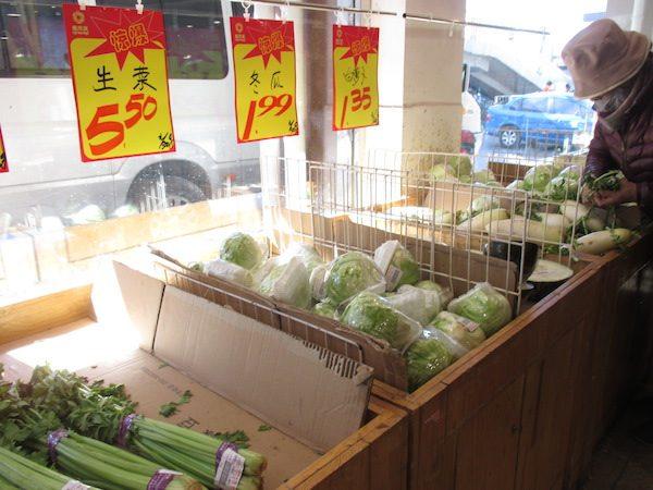中国のスーパーでの買い物