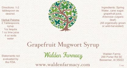 Grapefruit Mugwort Syrup