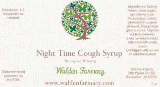 Night Time Cough Syrup