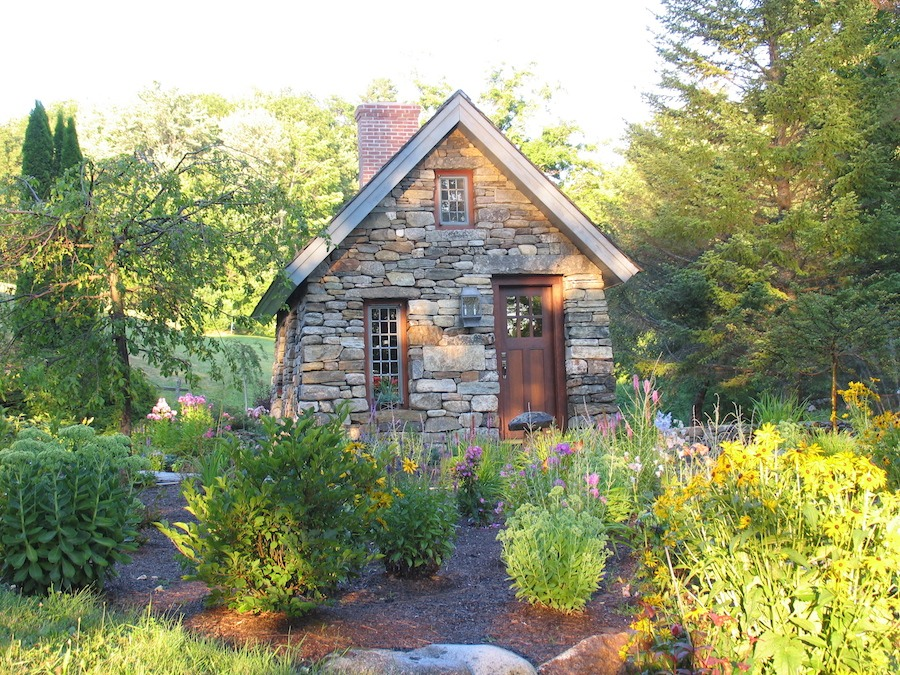 Front of the stone Thoreau cabin