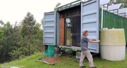Couple Builds Off-Grid Mobile Home with 2 Shipping Containers