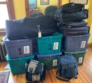 Luggage for trip to Haiti