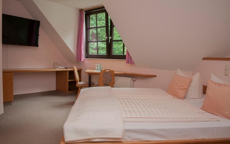 Doppelzimmer Pension Waldfrieden Waldheim bei Döbeln