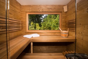 Sauna mit Zirbenduft