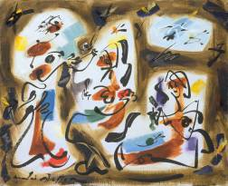 Kitchen-maids 1962 by André Masson 1896-1987