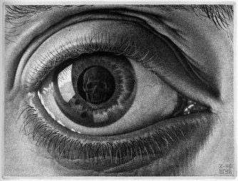 """Eye"" by M.C. Escher; 1946"
