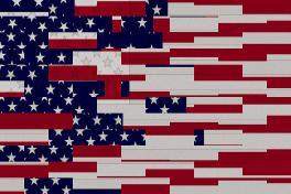 Abstract Flag by David G. Paul