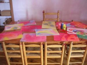 La table de la classe.