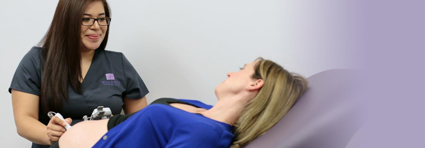 Patient receiving ultrasound