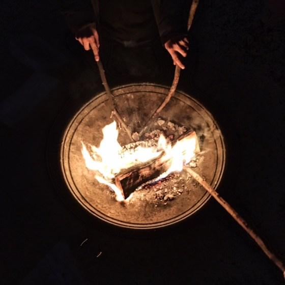 Feuer in einer Feuerschale