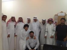 Taken at Jeddah District Court, Waleed and his friends while a hearing session of Waleed's Trial.