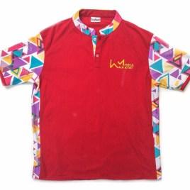 Red Retro Golfer