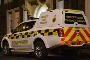 Multi-Agency search for missing woman at Aberystwyth seafront