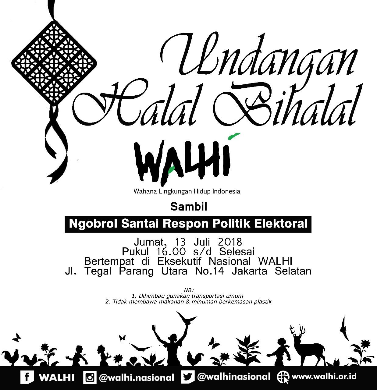 Halal Bihalal Walhi