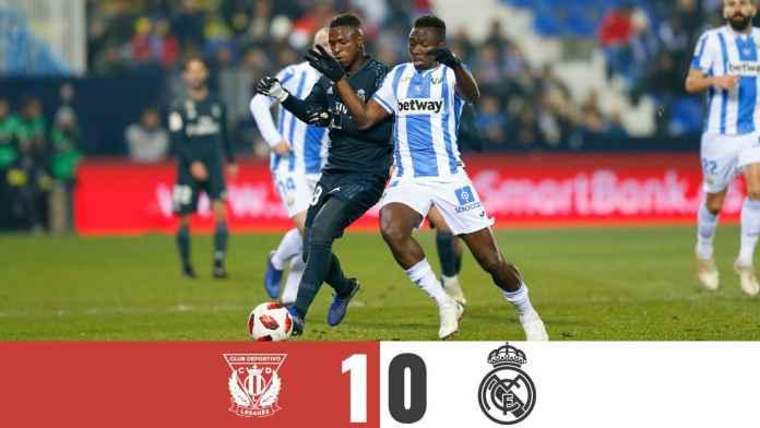 LEGANES MEMENANGKAN 1-0 DENGAN REAL MADRID