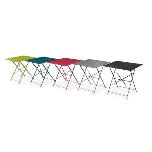 table de jardin en metal bistrot 70cm emilia 70