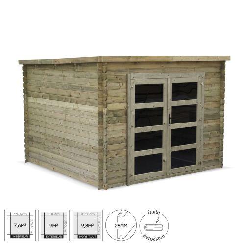 abri de jardin en bois de 9m tignes