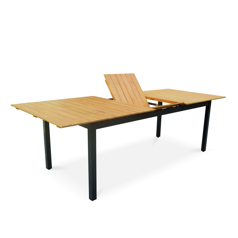 table de jardin extensible en bois sevilla