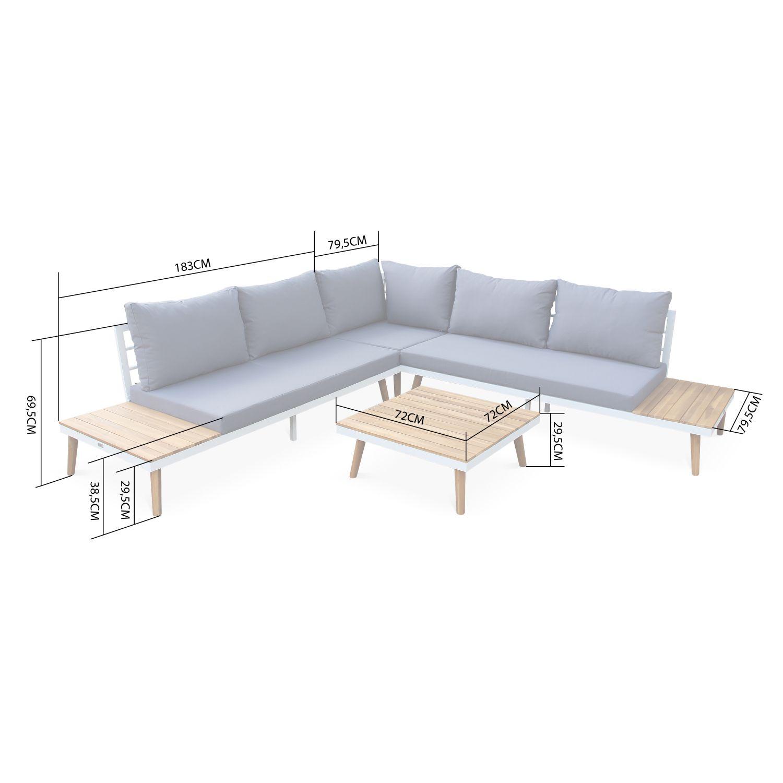 salon de jardin en bois 5 places avec