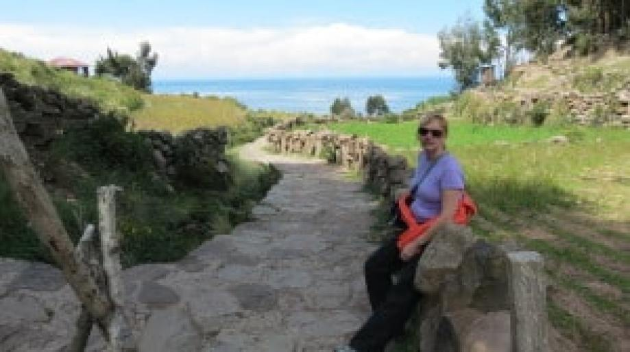walking around taquile island