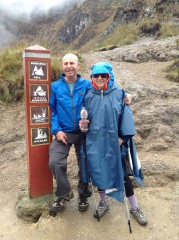 top of dead woman's pass on the inca trail