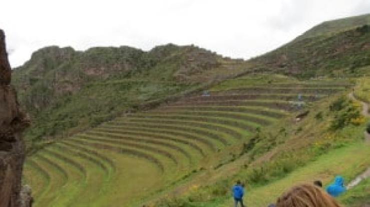 moray ruins in the sacred valley peru