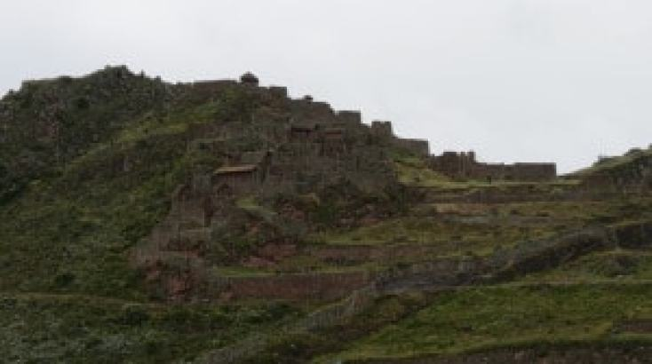 the ruins of Pisac in the sacred valley peru