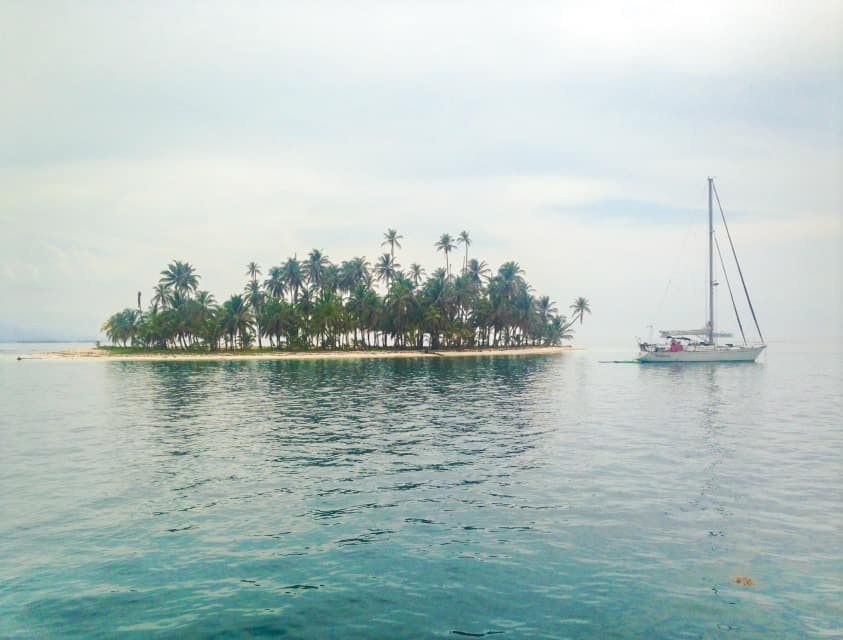 san blas islands in panama and a sail boat