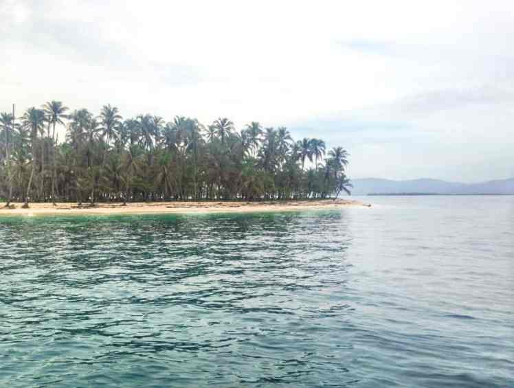 the san blas islands from the sail boat
