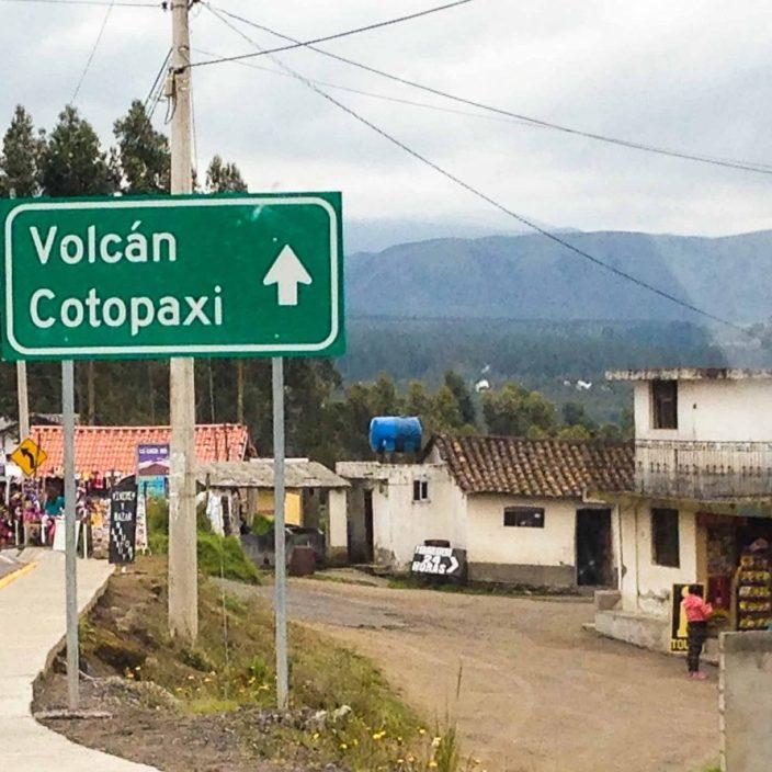 the road to Cotopaxi Volcano