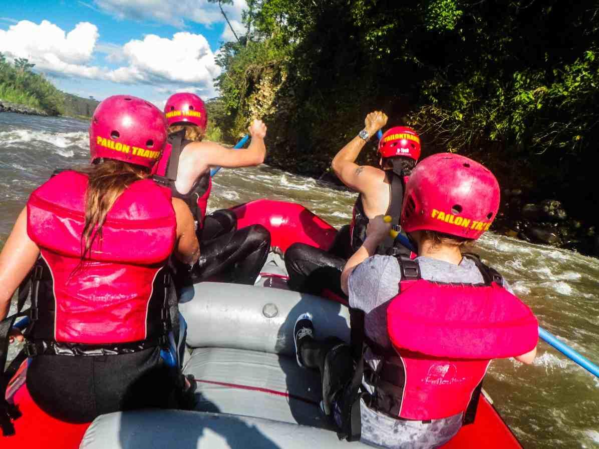 White water rafting in Baños ecuador