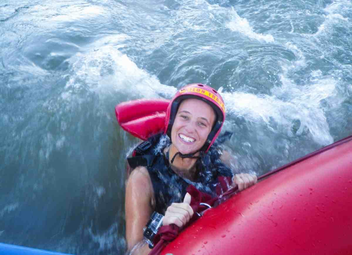 White water rafting in Baños