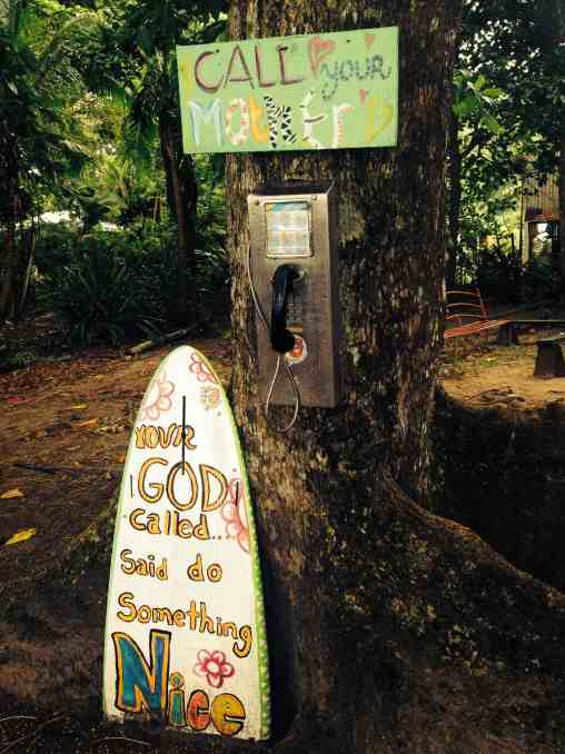 puerto viejo call your mom sign