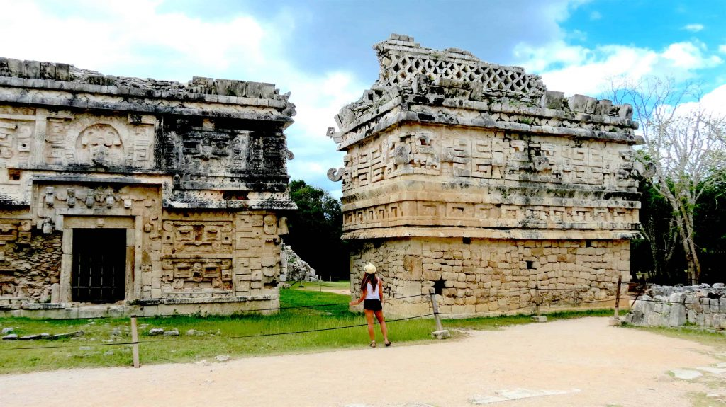 hanging out in chichen itza