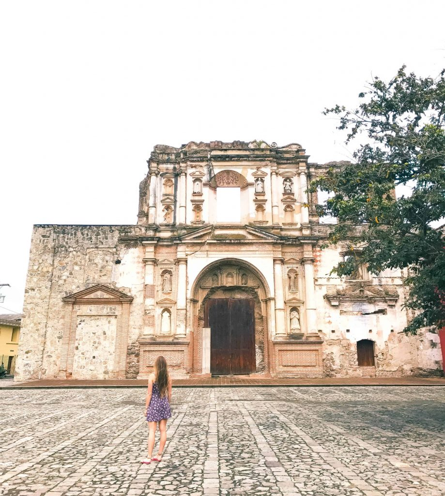ruins in the middle of antigua guatemala
