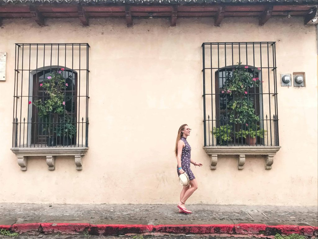 walking down the streets of colonial antigua guatemala