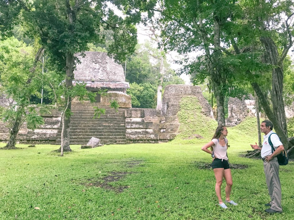 taking a tour of tikal with tony ortiz at the Tikal Guatemala ruins